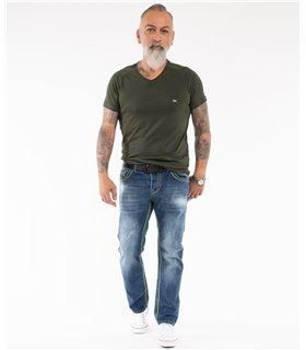 Rock Creek Herren Jeans Comfort Fit Dunkelblau RC-2369