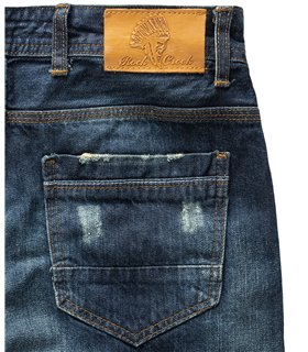 Rock Creek Herren Jeans Regular Fit Dunkelblau RC-2299