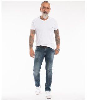 Indumentum Herren Jeans Slim Fit Blau IS-307