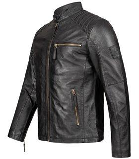 Rock Creek Herren Lederjacke Biker-Style H-291