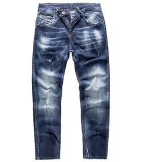 Rock Creek Herren Jeans Slim Fit Dunkelblau RC-3113