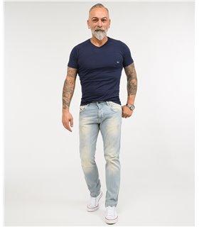 Rock Creek Herren Designer Jeans Hose Regular Fit Stonewashed Used Look M40 NEU