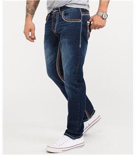 Rock Creek Herren Jeans Comfort Fit Dunkelblau RC-2167