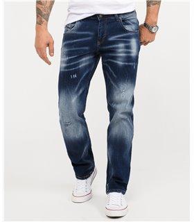 Rock Creek Herren Jeans Regular Fit Dunkelblau RC-3113