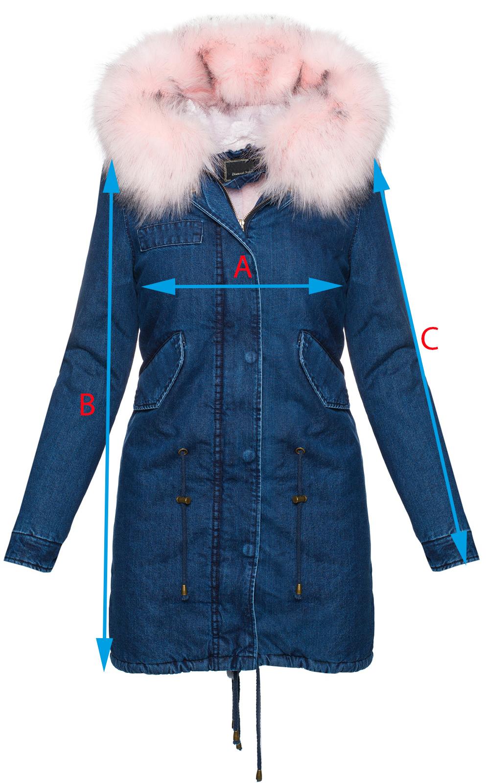 Damen winter jacke jeansjacke damen mantel xxl-fell kapuze ... 63ea3e4d6d