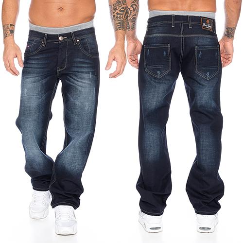 aefd6ee0db Rock Creek Herren Jeans Hose Denim Blau Straight-Cut Gerades Bein RC ...