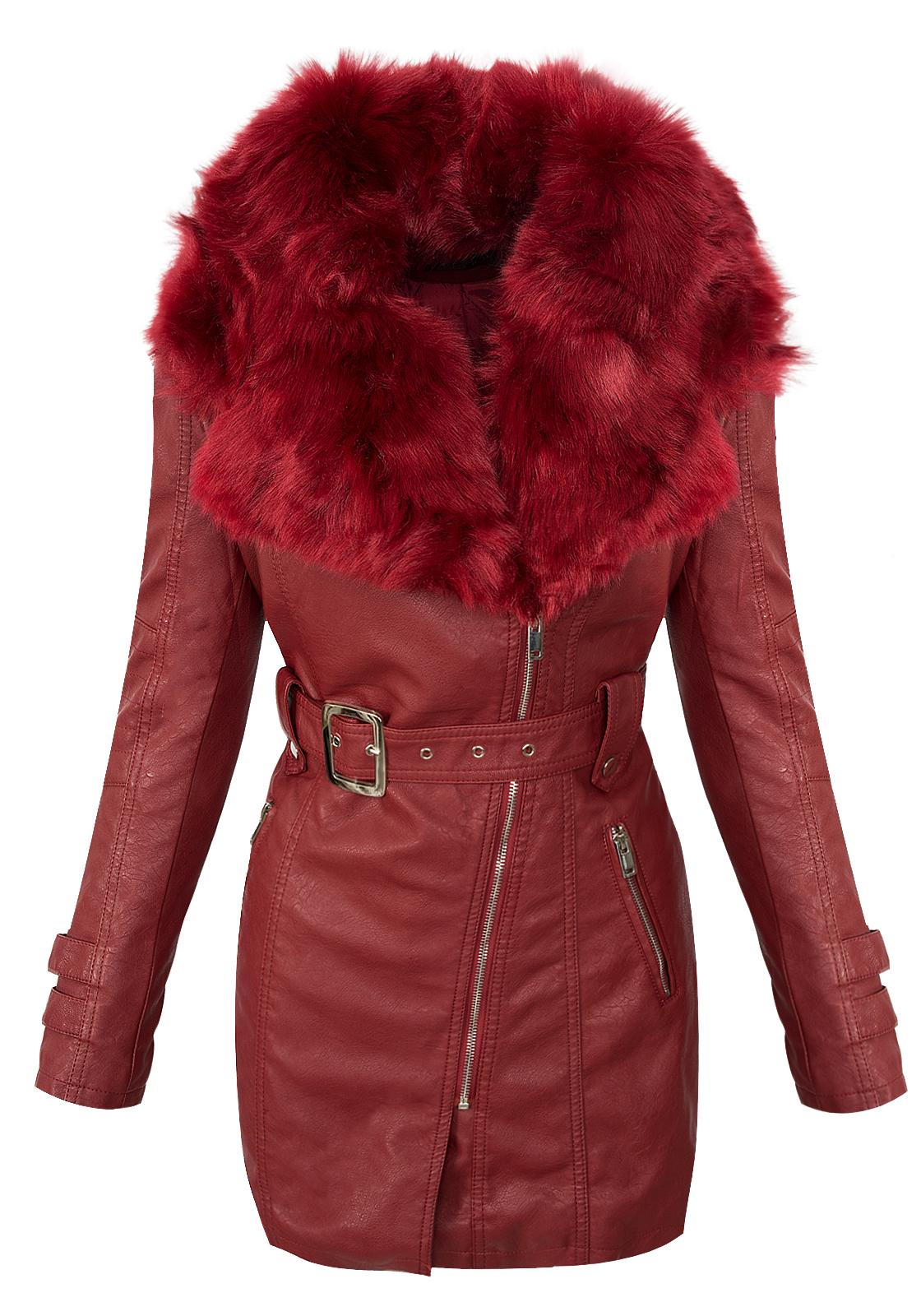 MORE /& MORE Damen Jacke Damenjacke Mantel Lederjacke NEU