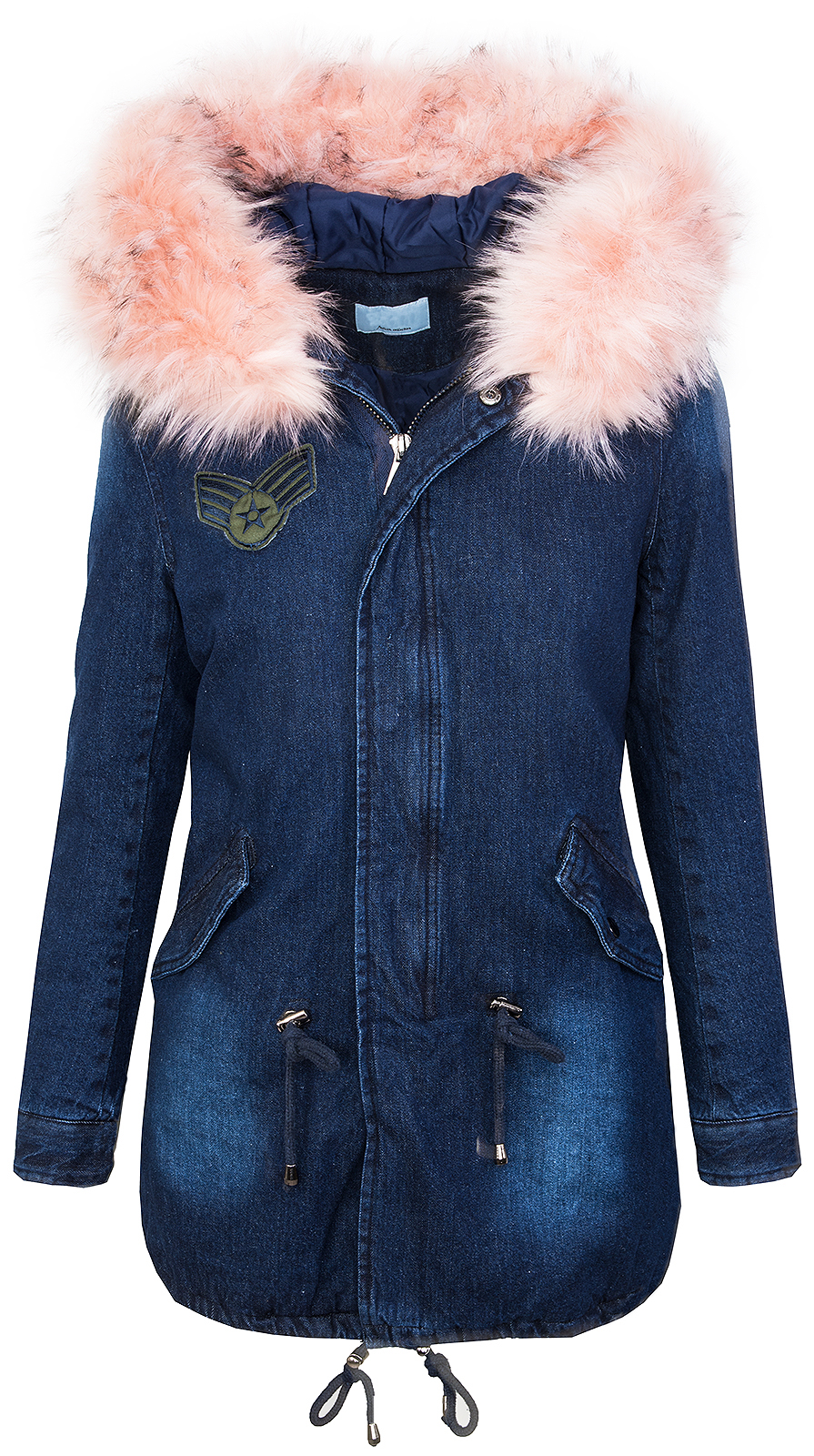 rock creek damen winter jacke parka jeansjacke. Black Bedroom Furniture Sets. Home Design Ideas