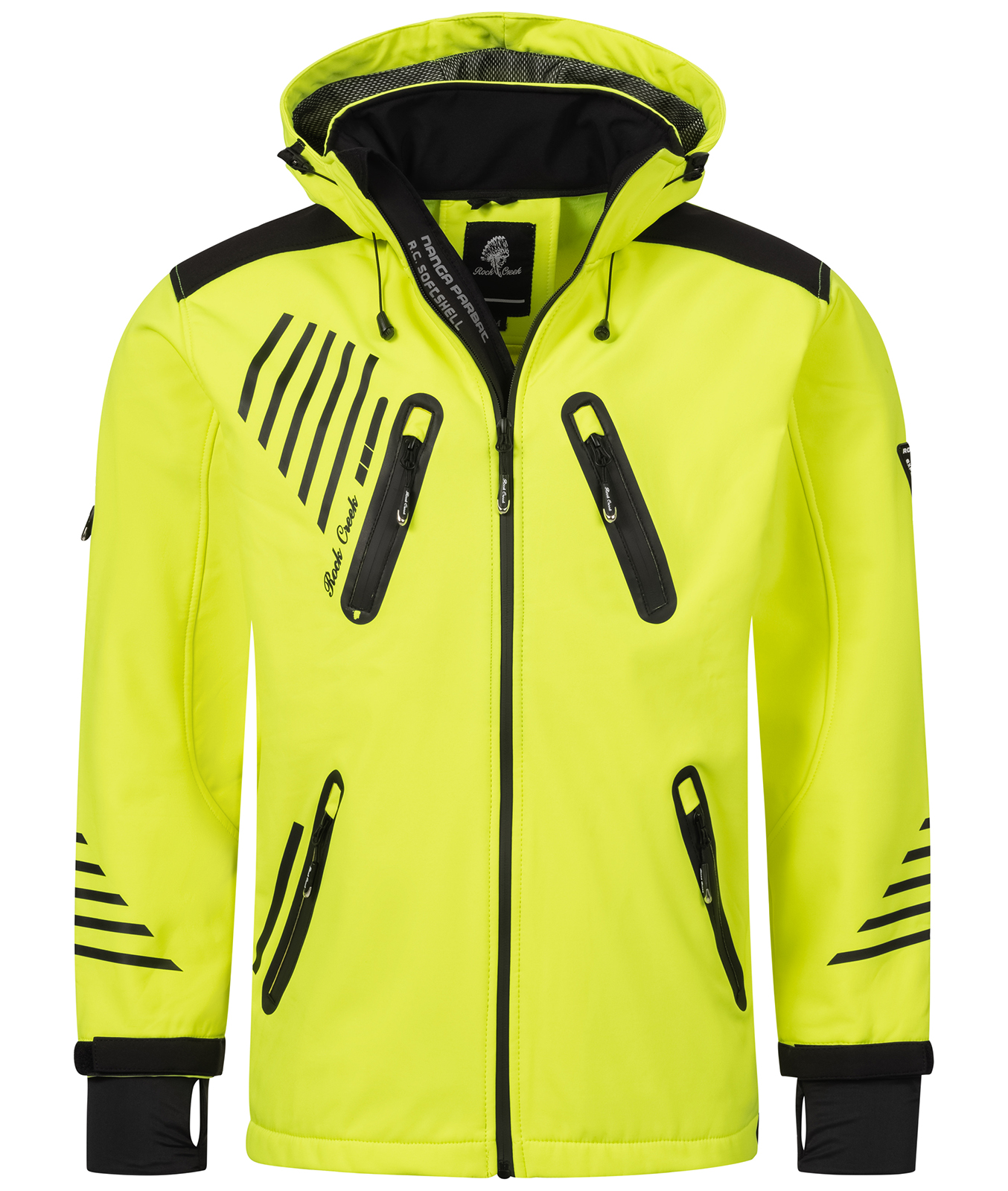rock creek herren softshell jacke outdoorjacke windbreaker bergangs jacke h 140 ebay. Black Bedroom Furniture Sets. Home Design Ideas